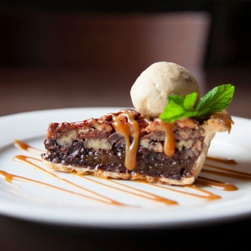 Pecan Pie with Butter Pecan Ice Cream
